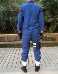 Blue-Kakashi-Shirt-Pants-2-Pcs-Naruto-Jounin-Uniform-Hatake-Cosplay-Costume