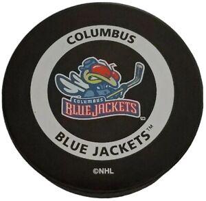 COLUMBUS-BLUE-JACKETS-NHL-GAME-PUCK-GARY-B-BETTMAN-VINTAGE-INGLASCO-MASCOT