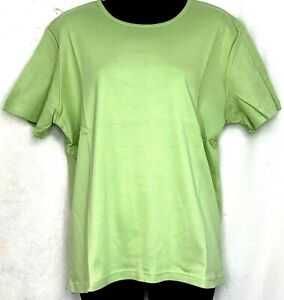 Orvis-Short-Sleeve-Shirt-Apple-Green-Cotton-Top-Casual-Outdoors-Size-Large