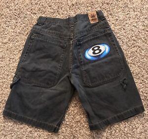 6965bdeee8 VINTAGE JNCO Jeans Black Denim Shorts 8 Ball Men's Size 32 | eBay