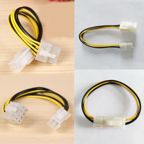 ATX 4 Pin Male to 4 Pin Female EPS CPU Power Converter Cable Lead Adapter 12V