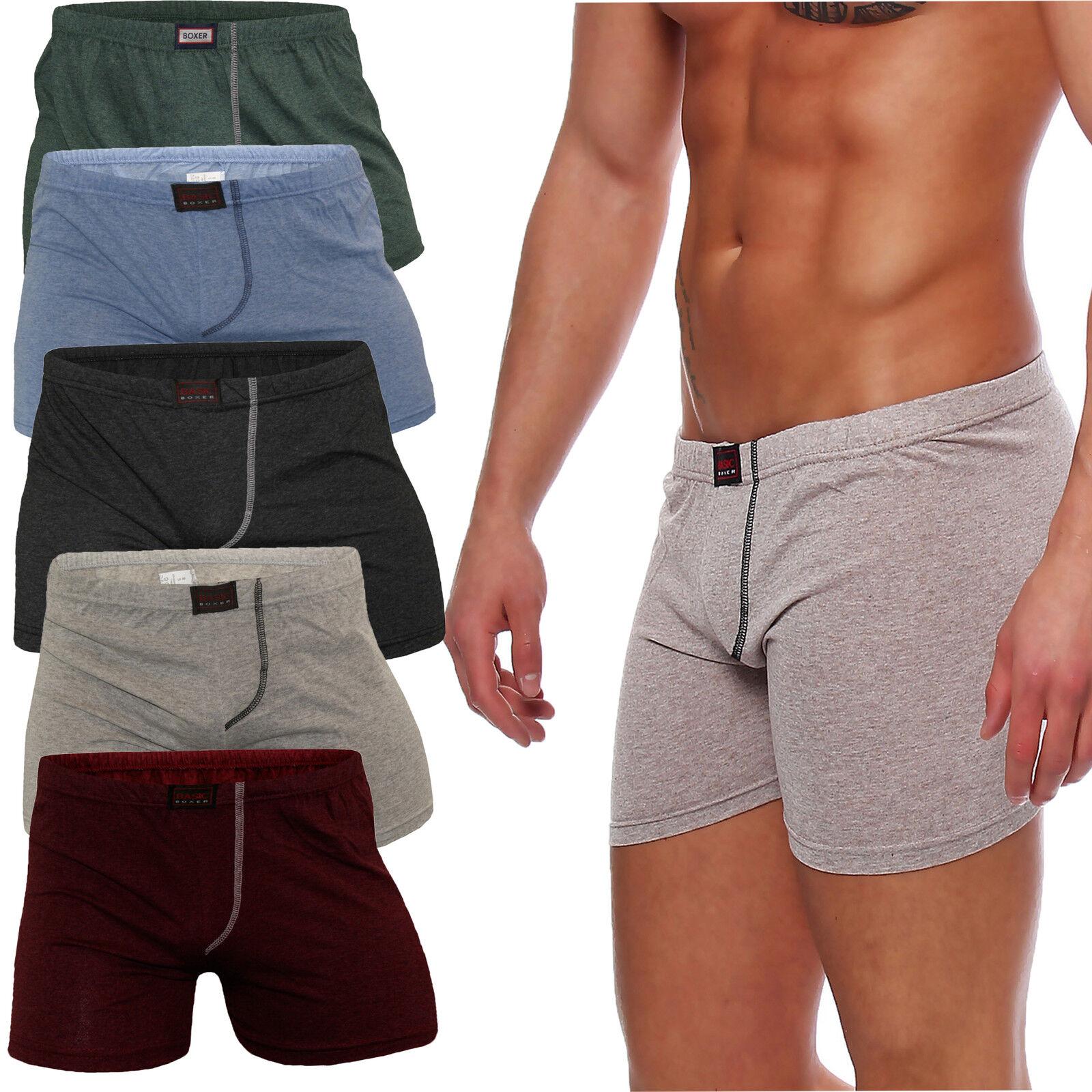 Unterhose Herren Boxershorts Slips Baumwolle ohne Eingriff bunt Neutral Uni Mix
