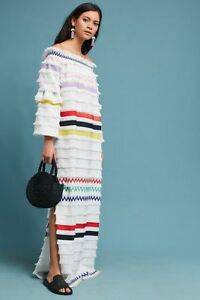 265afd130a3a Image is loading New-Anthropologie-Cynthia-Rowley-Off-The-Shoulder-Maxi-