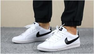 Nike-Court-Majestic-Leather-White-Black-Men-039-s-Trainers-Casual-Shoes-UK-7-11