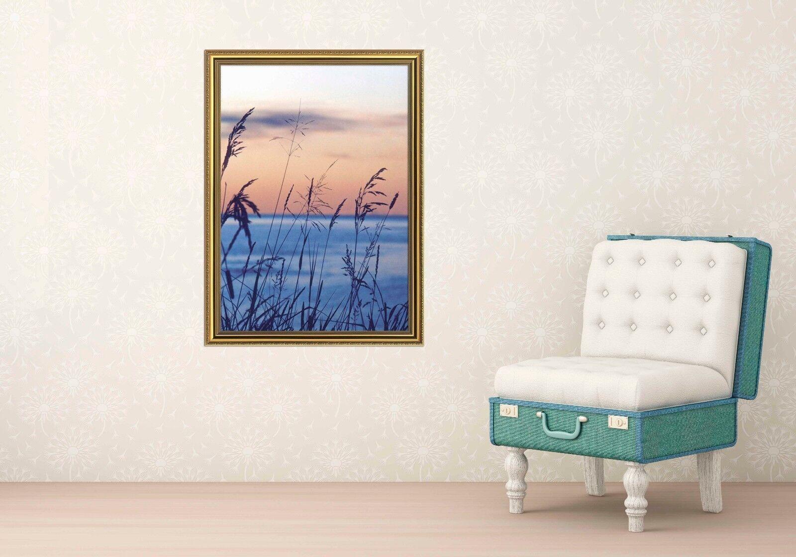3D Riverside Grass 6 Framed Poster Home Decor Print Painting Art AJ AU