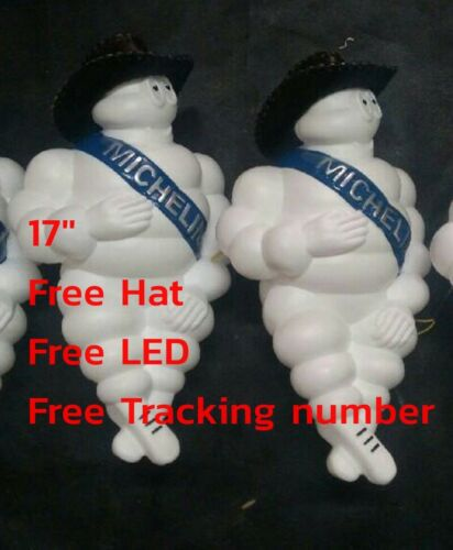 "10 x17/"" Michelin Man Doll Bibendum Advertise Tire/&car Truck Free Hat/&LED Light"
