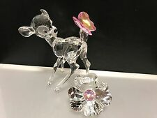 Swarovski Figur Disney Bambi 9,5 cm + Schild 4,5 cm. Top Zustand