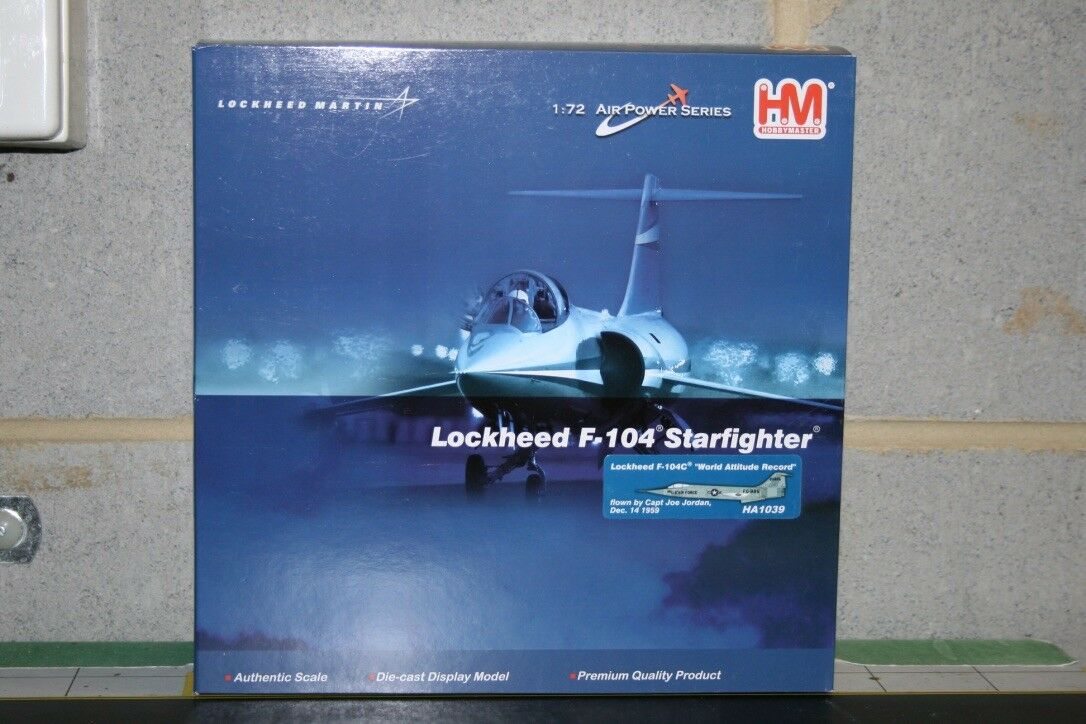 Hobby Master 1:72 USAF F-104 Starfighter  World Altitude Record   HA1039