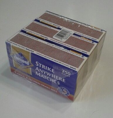 DIAMOND Strike Anywhere Matches Sealed 3 Pack 750 count  RED /& White TIP Rare