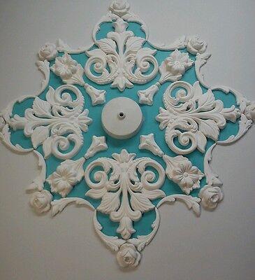 Plaster Ceiling Rose/ Design, Art deco style,hand made,50 diameter,home decor