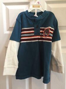 New-Gymboree-Boys-Blue-Long-Sleeve-Shirt-Size-4-Soccer