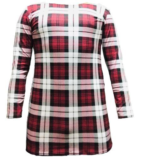 New Womens Long Sleeve Stretch Bodycon Ladies Plain Short Mini Dress Top 8-14 Ln