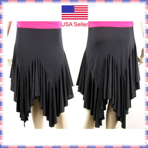 Extra Small 3753bk New Women Ballroom Latin Rhythm Salsa Social Dance Skirt