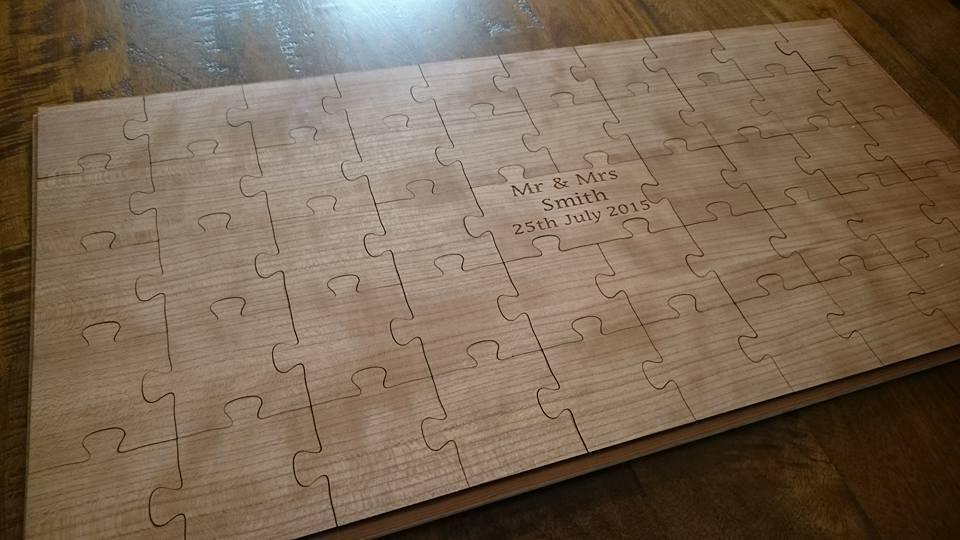 Puzzle en Bois Personnalisé Mariage Livre d'or  Bois Puzzle Livre d'or