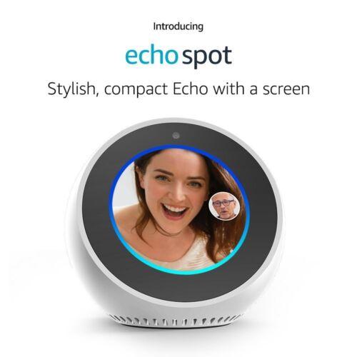 Amazon Echo Spot Alexa Smart Assistant WHITE BRAND NEW  ✔✔ FREE USA SHIPPING✔✔