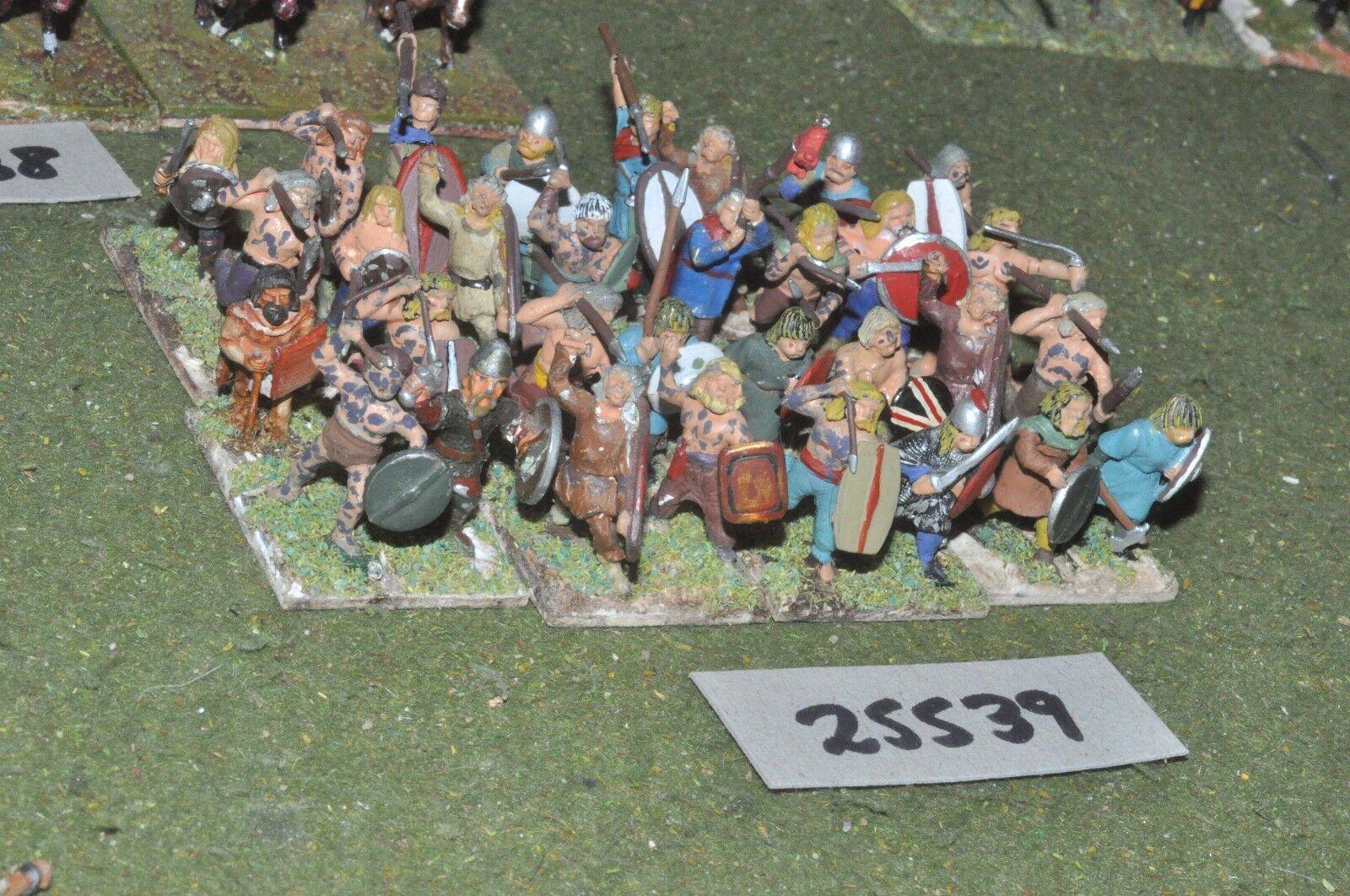 25mm roman era   gaul - warriors 32 figures - inf (25539)