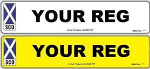 Rear 3D Plain MOT UK Road Legal Car Van Reg Registration Number Plate