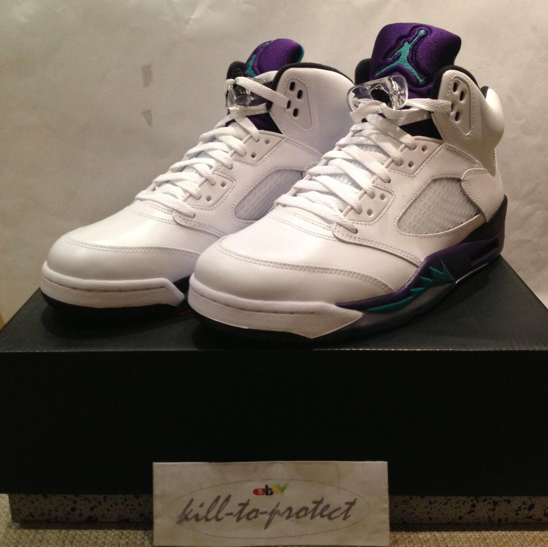 Nike jordan v 5 uva bianco ghiaccio unito noi 7 8 9 10 11 136027-108 viola viola, 2013
