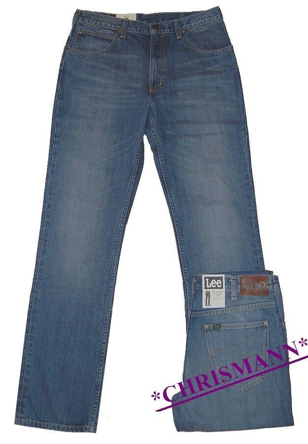 Lee Brooklyn Jeans W32-W40 L30 New Men's Trousers bluee Used mid Stone L452ATKS