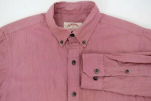 Brooks Brothers Red Fleece Men's X-Slim Button Down Shirt Red White Stripe Small
