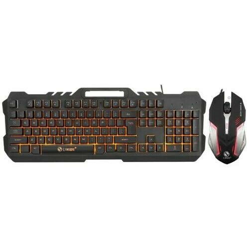 LIMEIDE Metal Storm T21 USB Wired Office Backlight Gaming Keyboard & Mouse Set