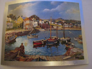 Vintage Foil Dufex Print Topper Coverack Bay Chelmsford United Kingdom