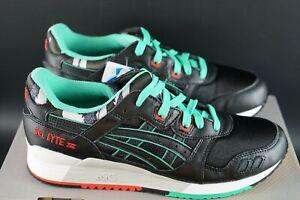 Asics-Gel-Lyte-III-3-Noir-Future-Camo-Pack-Chaussures-Baskets-Taille-UK-9-5-EU-43-5