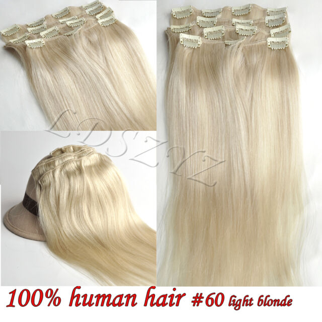 Grade AAA clip in real remy human hair extensions 14''16''18''20''22'' Stock
