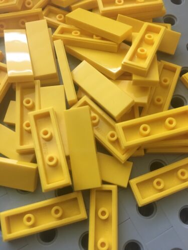 Lego 1x3 Yellow Tiles Smooth Finishing Flat Modular Buildings New 50 Pcs