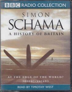 A-History-of-Britain-At-Edge-World-3000-BC-AD-1603-Simon-Schama-4-Cassette-NEW