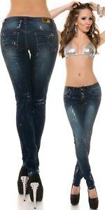 Jeans-donna-push-up-pantaloni-denim-elasticizzati-stampa-argento-pant-stretch
