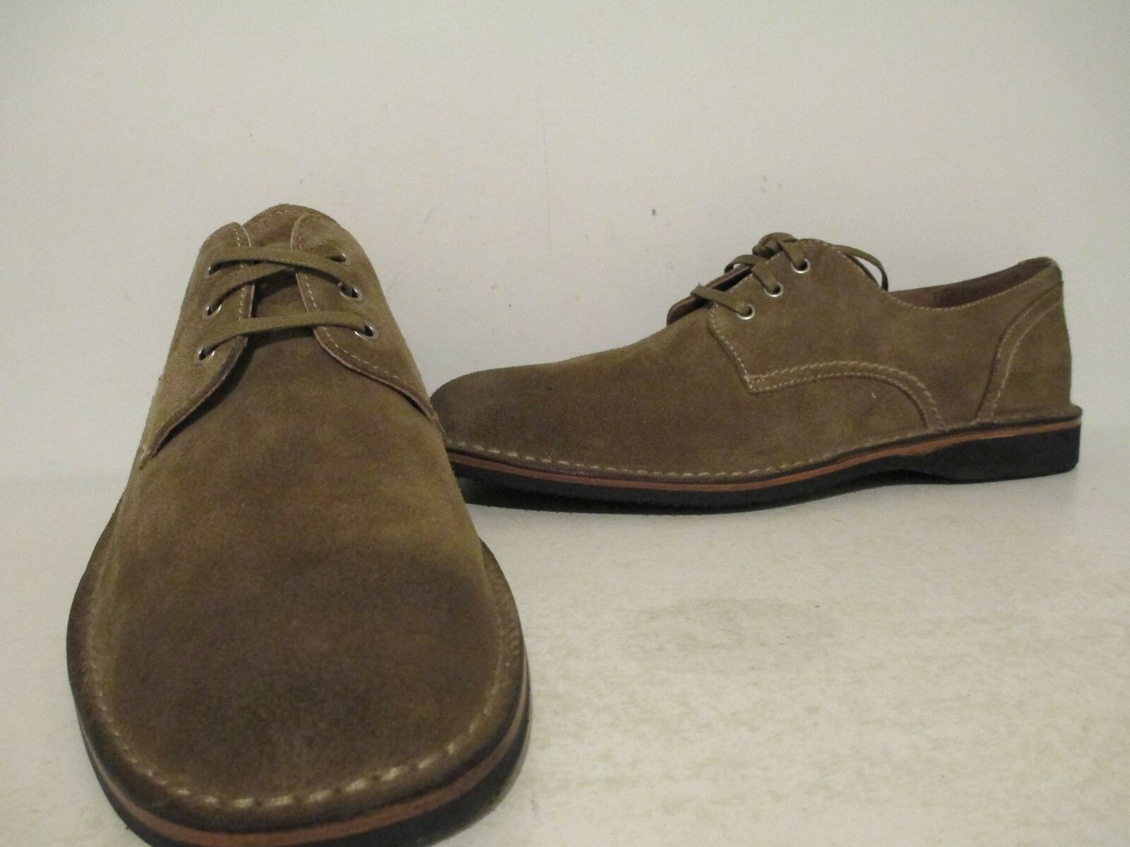 Andrew Marc Mens Dorchester Leather Oxford shoes Sand Stone Deep Natural Sz 9 D