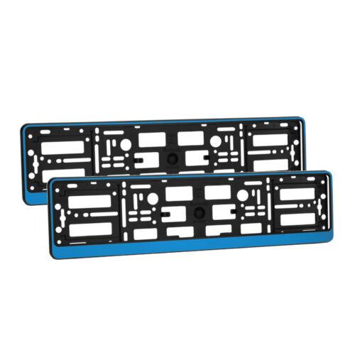 2 x universel number plate holders entoure cadres toute voiture-bleu effet