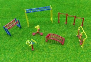 HO OO scale Train Accessories Layout Playground Fitness ...