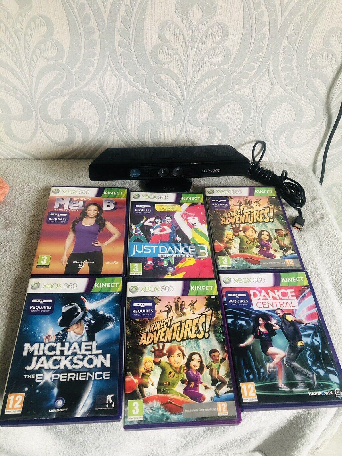 Microsoft Xbox 360 Kinect 6 Family Games Bundle