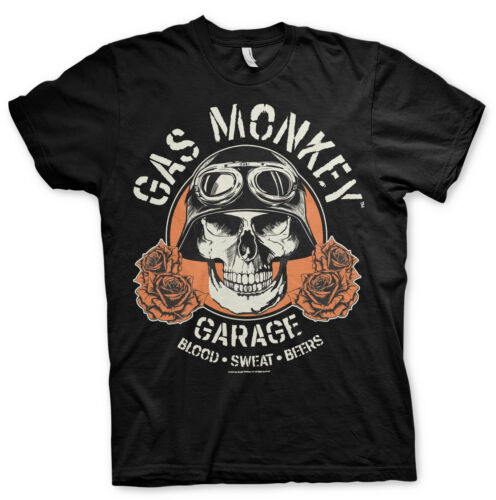 Officially Licensed Gas Monkey Garage Skull Men/'s T-Shirt S-XXL Sizes