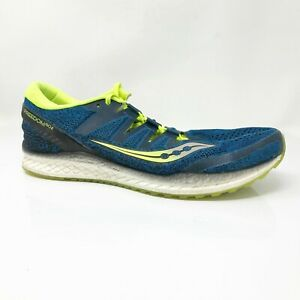 Saucony Mens Freedom ISO 2 S20440-3 Blue Running Shoes Lace Up Low Top Size 12.5