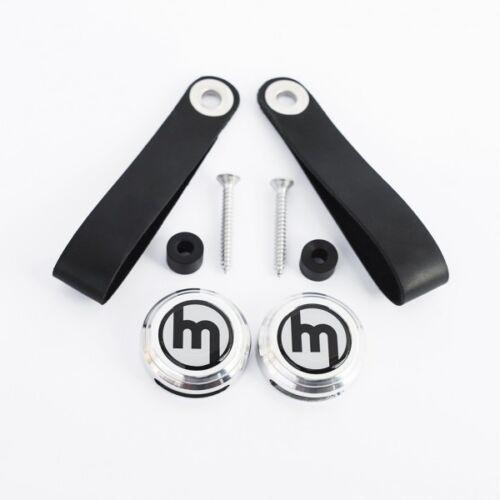 Plata Logo Mazda Mx-5 Mk1 Jdm eunos Mx5 Cuero Vintage puerta manija del tirón Kit