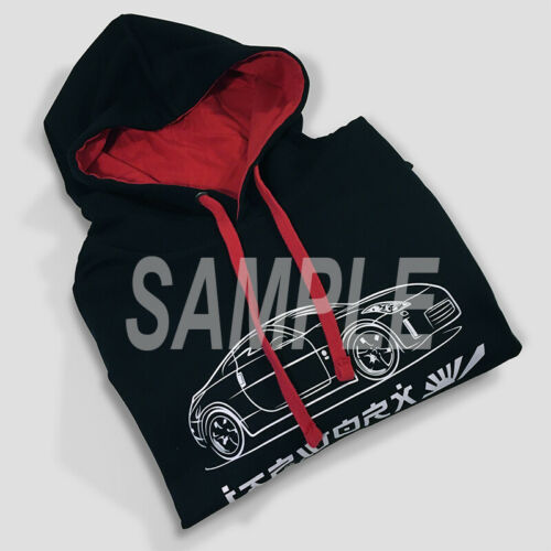 AUTOTEES JAPWORX DESIGN SKETCH HOODIE FOR ENTHUSIASTS OF TOYOTA MR2 MK2 JDM