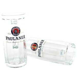 2er-Set-Paulaner-Glaeser-0-3l-geeicht-Bier-Glas-mit-Henkel-Seidel-Moldau-Gastro