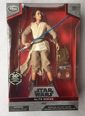 "Disney Store Star Wars Rey Jedi Elite Series Premium Action Figure 10/"" NIB"