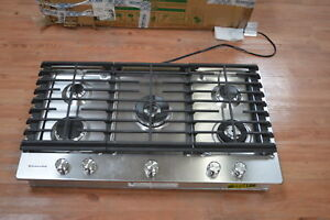 Image Is Loading KitchenAid KCGS556ESS 36 034 Stainless 5 Burner Gas