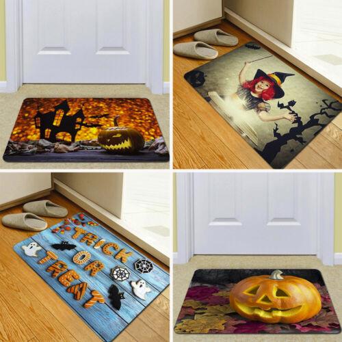Halloween Pumpkin Bathroom Kitchen Decor AntiSlip Floor Mat Doormat Foot Pad Rug
