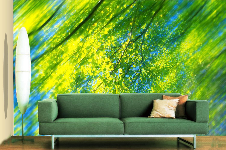 3D Hazy Grün Leaf 7 Wall Paper Murals Wall Print Wall Wallpaper Mural AU Summer