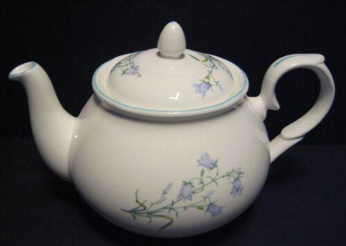 Harebell Inglés Porcelana Fina 6 Taza Tetera por Milton China imprimir un
