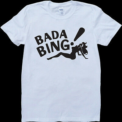 The Sopranos Bada Bing White, Custom Made T-Shirt