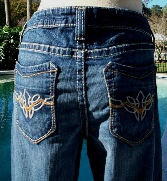 Cache Denim Button Embellished Jean Pant New Crop Stretch 0 2 6 8 10 12 NWT  98