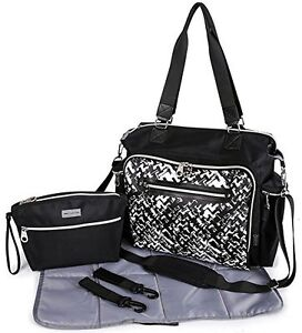 c7850176a63 SoHo Collection, Times Square 5 pieces Diaper Tote Bag set (Stripe ...