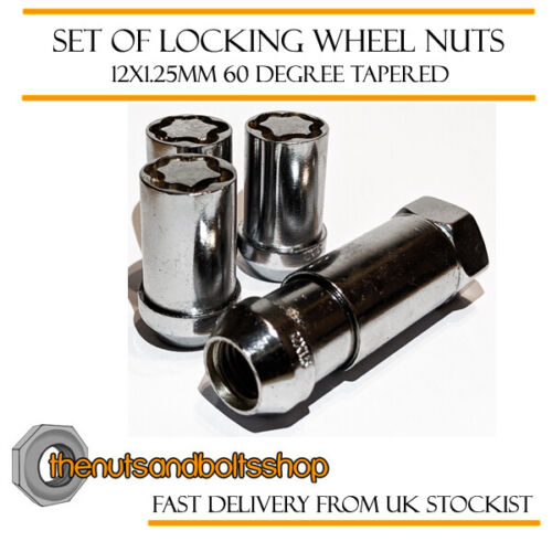 01-07 Tuner Locking Wheel Nuts 12x1.25 Bolts Tapered For Nissan Skyline V35