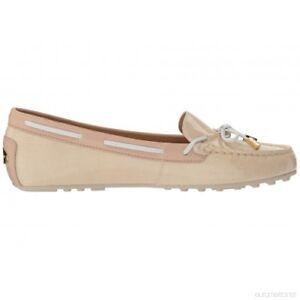 274d783676d New Michael Kors Daisy Moc Moccasin Flats ecru loafers bow patent ...